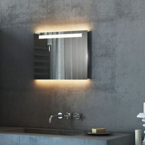 P H 390x W 500x D 45mm Argent Range 501 P Bathroom Mirror Lights Mirror Mirror With Lights