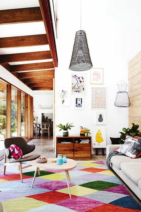 awesome Déco Salon - idee déco salon pas cher et tapis coloré pour ...
