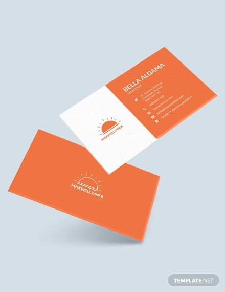 Modern Restaurant Business Card Modern Business Cards
