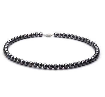 eec4ff0ac5ed2 6-7mm AA Quality Freshwater Cultured Pearl Necklace in Black in 2019 ...