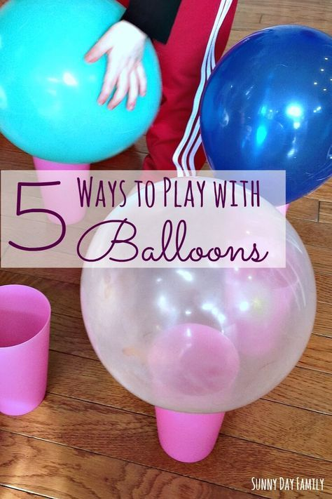 5 Easy Balloon Games For Toddlers Preschoolers Balloon Games