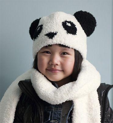 Animal Bonnet Peluche Bonnet Ours Panda Bear-Enfants Casquette