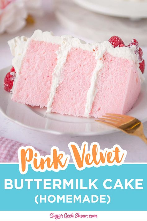 Raspberry Pink Velvet Cake with Raspberry Cream Cheese