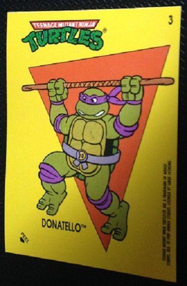 Ninja Turtles//Teenage Mutant Hero Turtles 9 stickers de 1989