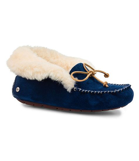 3d4cc22fa523 UGG® Alena Bow Detail Waterproof Suede Slippers | fashion... | Uggs ...