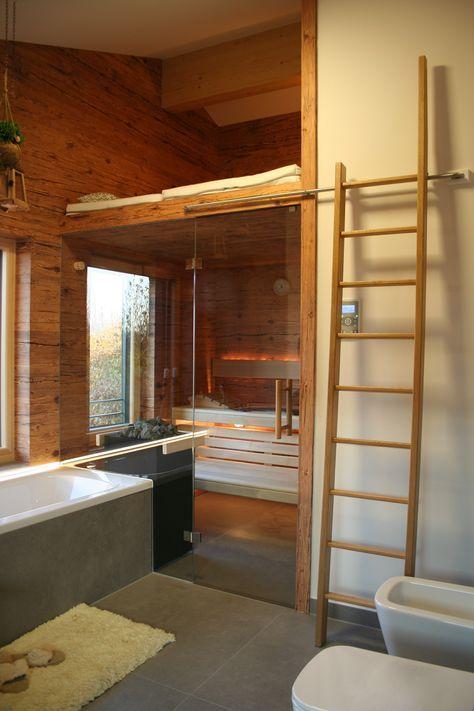 Sauna Mit Altholz In 2019 Tolle Badezimmer Badezimmer Mit Sauna