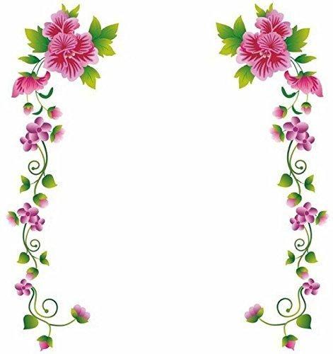 Decals Design Flower Vines Wall Sticker Pvc Vinyl 70 Cm X 25