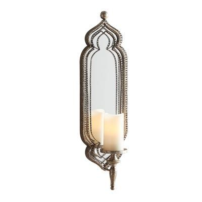 Silver Metal Lace Candle Wall Sconce In 2020 Candle Wall Sconces Candle Wall Decor Lace Candles