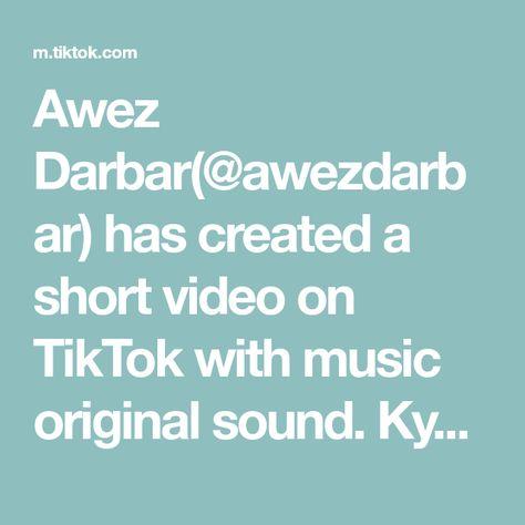 Awez Darbar Awezdarbar Has Created A Short Video On Tiktok With Music Original Sound Kyuki Tu Dhadkan Mai Dil Aapke The Originals Music Lady Gaga Judas