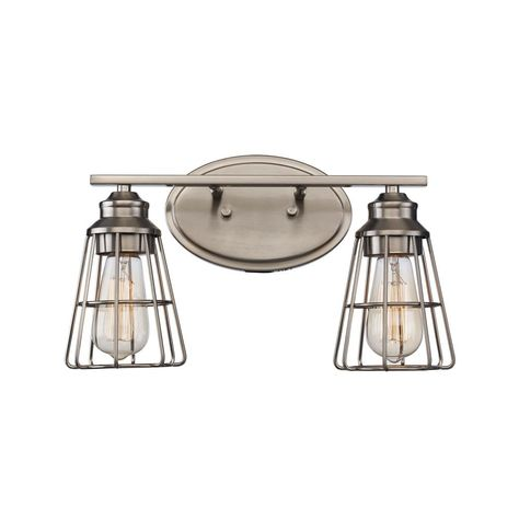 Bel Air Lighting 8 In 2 Light Brushed Nickel Vanity Light Vanity Lighting Bel Air Lighting Bathroom Vanity Lighting