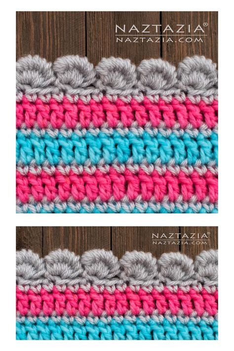The crochet bullion stitch border is a fun edging for a blanket, shawl, scarf, and more.  It forms a nice shell or scallop border along a crochet or even knit item. It definitely has a 3D puffy look to it, so it adds some interest to blankets and especially scarves.