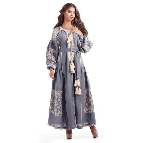 newseason Long sleeves Embroidered dress...