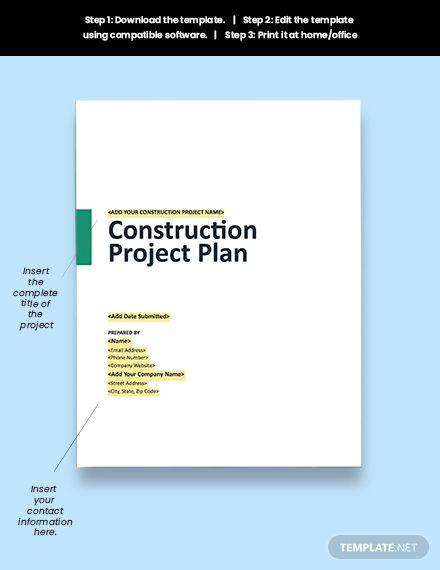 Construction Schedule Management Plan Template Free Pdf Google Docs Word Template Net How To Plan Templates Business Icons Design