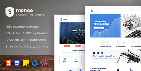 Monee — Forex and Stock Broker HTML Template | Stylelib