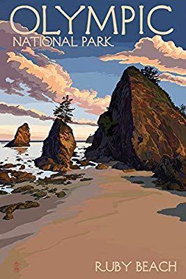Amazon com: Olympic National Park, Washington - Ruby Beach