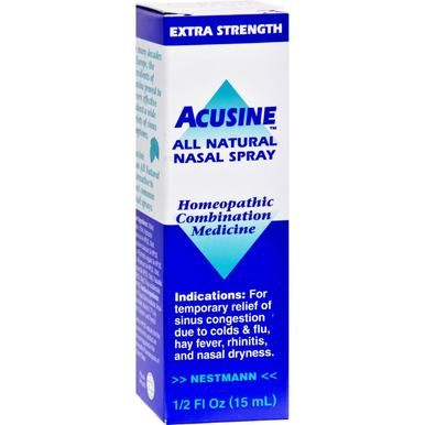 Acusine Nasal Spray 5 Oz Nasal Spray Sinusitis Sinus Remedies