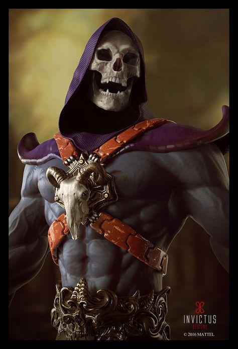 Skeletor by Victor Marin Master Of The Universe, Universe Art, Comic Books Art, Comic Art, He Man Thundercats, Bd Comics, Classic Cartoons, Dark Fantasy Art, The Villain