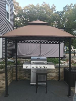 Wilson Fisher Pinehurst Small Space Grill Gazebo 8 X 5 Big Lots Grill Gazebo Outdoor Grill Area Outdoor Kitchen Design