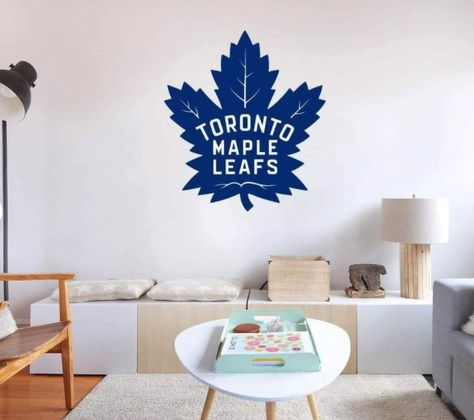Peel-N-Stick Decal: Toronto Maplel Leafs Hockey Logo. Our decals are removable and guaranteed not to damage the walls when removed. The decal can be repositioned many times. This is an indoor decal, ideal for smooth walls. Will not stick to textured paint. This is a fabric non-toxic decal that comes in many sizes. Highly durable! Stick to many surfaces. Will not tear or wrinkle. Tons of other logos available