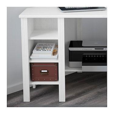 Brusali White Corner Desk 120x73 Cm Ikea Ikea Ikea Brusali