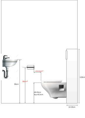 Afmetingen Toilet Toiletrolhouder Badezimmerideen Badezimmer
