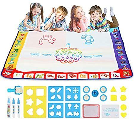 Amazon Com Aqua Magic Doodle Drawing Mat Toycraz Water Drawing Coloring Mat 40 X 40 R Spielzeug Fur 3 Jahrige Spielzeug 4 Jahrige Geschenke Fur 3 Jahrige