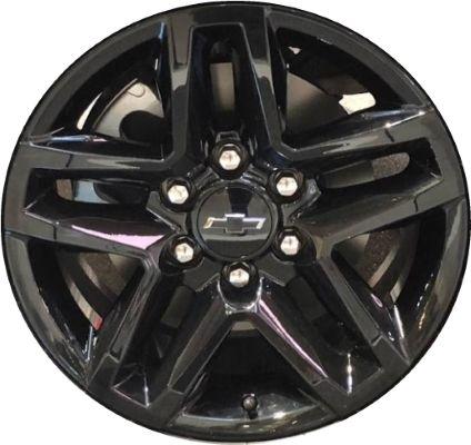 Aly5911 Chevrolet Silverado 1500 Wheel Black Painted 23376218 Chevrolet Silverado Chevrolet Silverado 1500 Silverado