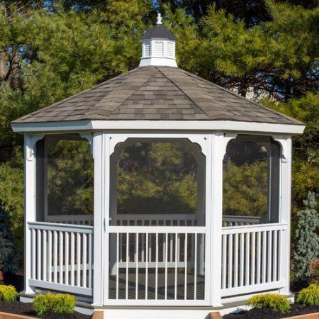 Yardcraft Screen Kit For 12 Ft Octagon Gazebo Walmart Com Gazebo Screened Gazebo Deck Designs Backyard