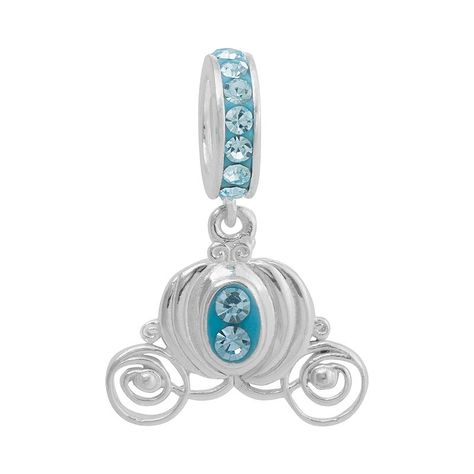 Disney Princess Cinderella Crystal Sterling Silver Carriage Charm ... 6929573f5