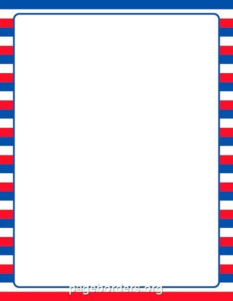 Printable patriotic striped border Use the border in Microsoft - certificate border word