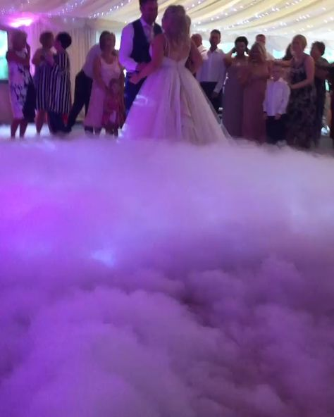 When you find The One, why not make the celebration unforgettable? Another beautiful dry ice first dance from diamondgroupevents on Instagram.