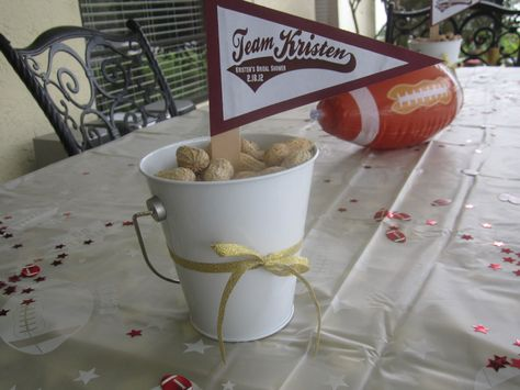 football centerpieces for parties football themed bridal shower centerpieces p is for party