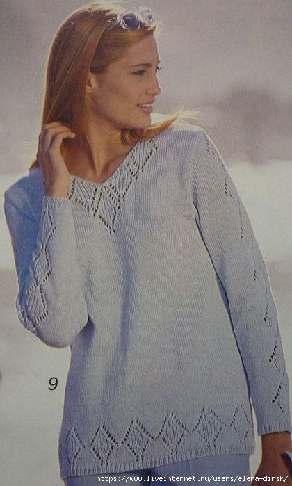 пуловер связан спицами обсуждение на Liveinternet российский