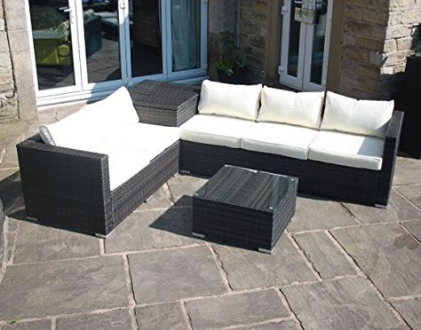 Rattan Outdoor Sofa Set Weave Modular Dining Set Outdoor Garden - rattan gartenmobel braun