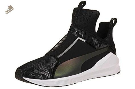 Puma Fierce Evoknit, Chaussures de Fitness Femme, Noir (Black-White), 42.5 EU