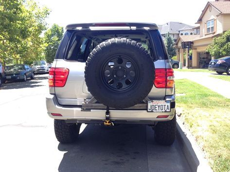 Toyota Sequoia Swing Out Tire Carrier Geto Scoot Sequoia Toyota Toyota Sequioa