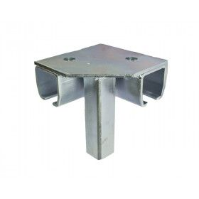 Industrial Roller Track 16 Gauge Galvanized Steel 8 Feet