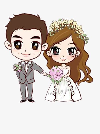 Cartoon Couple Tanabata Valentine S Day Wedding Png Image Couple Cartoon Wedding Couple Cartoon Portrait Cartoon