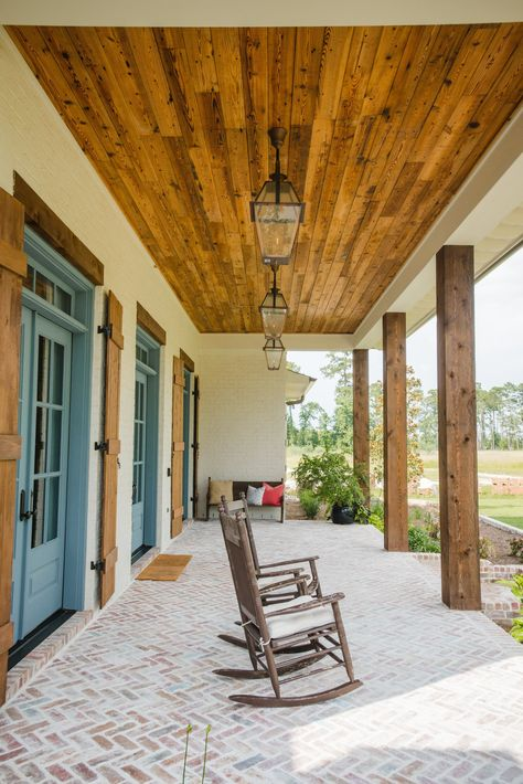 Advice, techniques, including quick guide beneficial to acquiring the greatest result and attaining the optimum use of french doors exterior House With Porch, My House, House Porch Design, Front Porch Design, Future House, Acadian Style Homes, Acadian House Plans, Gazebos, Modern Farmhouse Exterior