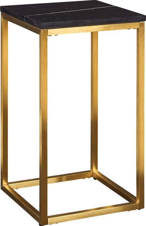 Gold Table D Appoint Haute Marbre Noir Table D Appoint Haute