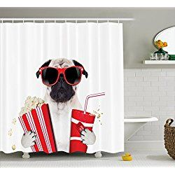 Pug Shower Curtains With Images Pugs Bathroom Decor Sets