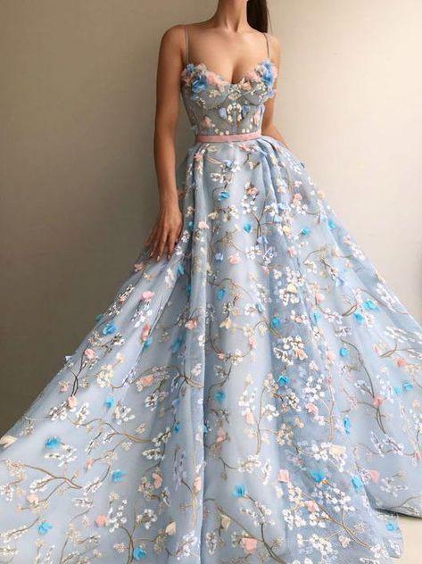 Floral Prom Dresses, A Line Prom Dresses, Mermaid Prom Dresses, Cheap Prom Dresses, Pretty Dresses, Strapless Dress Formal, Beautiful Dresses, Corset Prom Dresses, Long Fancy Dresses