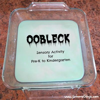 This is so fun! Oobleck--sensory activity for pre-k and kindergarten
