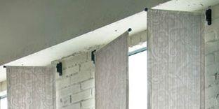 小窓用カーテンレール スイング ブラケット 5カラー カーテン