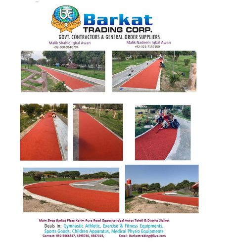 EPDM Track Installed By Barkat Trading Corporation