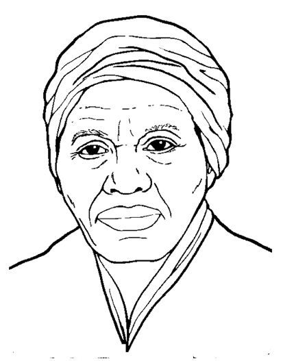 Harriet Tubman Coloring Page Profile Black History Month