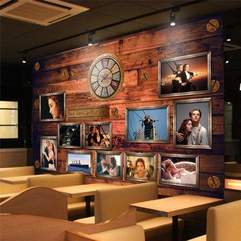 wall decor paper 3D Classic movie story Titanic disco nightclub bar ...