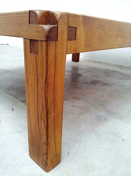 Pierre Chapo Gde Table Basse 17 Wood Furniture Wood Joinery