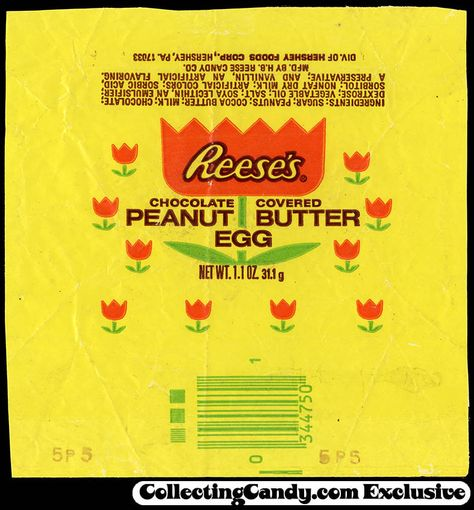 Reese's – Peanut Butter Egg – Easter candy wrapper – trimmed – circa 1975-1976