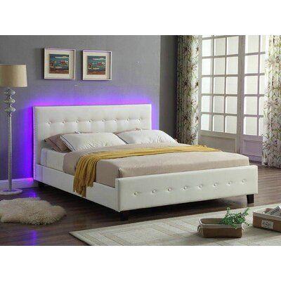 Ebern Designs Causglen Led Upholstered Platform Bed Size Queen